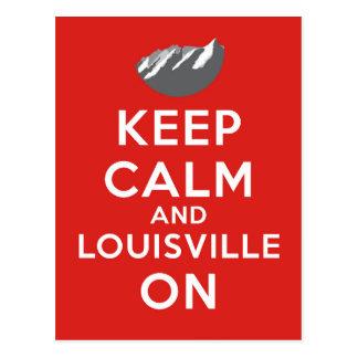 Keep Calm and Louisville On, Louisville, Colorado Postcard