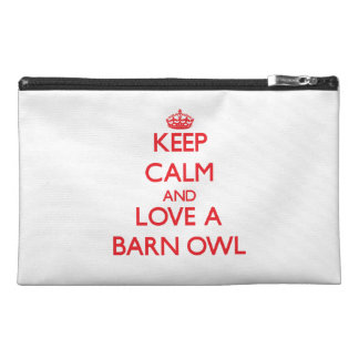 Keep calm and Love a Barn Owl Travel Accessories Bags