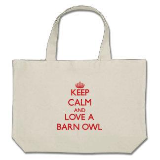 Keep calm and Love a Barn Owl Canvas Bag