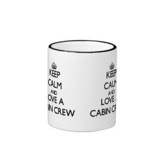 Keep Calm and Love a Cabin Crew Ringer Mug