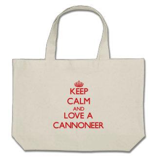 Keep Calm and Love a Cannoneer Bag