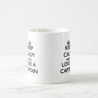 Keep Calm and Love a Captain Mug