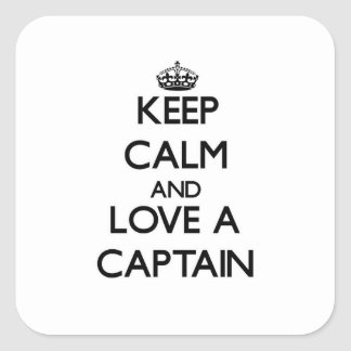 Keep Calm and Love a Captain Square Sticker