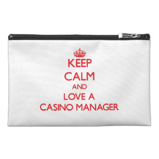 Keep Calm and Love a Casino Manager Travel Accessory Bag