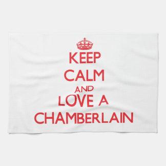 Keep Calm and Love a Chamberlain Tea Towel