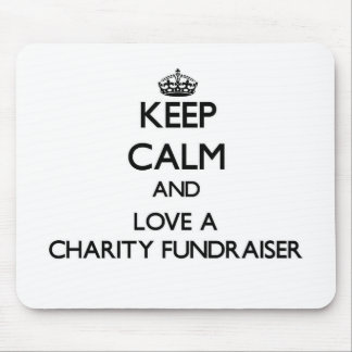 Keep Calm and Love a Charity Fundraiser Mouse Pad