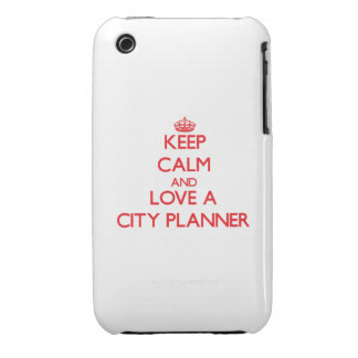 Keep Calm and Love a City Planner iPhone 3 Case