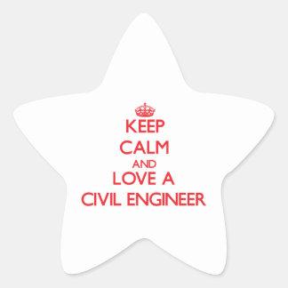 Keep Calm and Love a Civil Engineer Sticker
