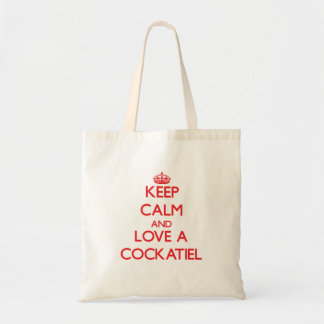 Keep calm and Love a Cockatiel Tote Bag