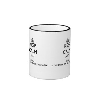 Keep Calm and Love a Commercial Art Gallery Manage Ringer Coffee Mug