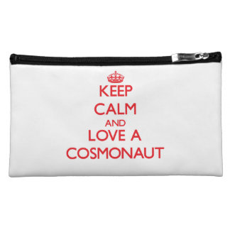Keep Calm and Love a Cosmonaut Cosmetic Bag