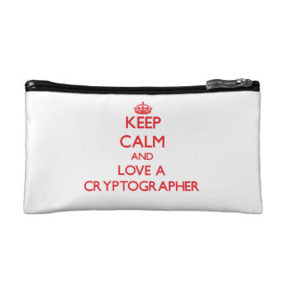 Keep Calm and Love a Cryptographer Cosmetic Bag