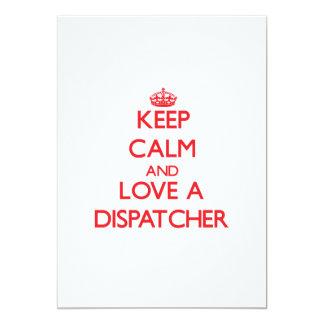 "Keep Calm and Love a Dispatcher 5"" X 7"" Invitation Card"