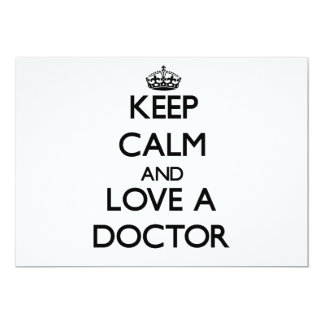 Keep Calm and Love a Doctor Cards