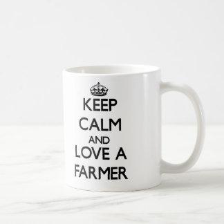 Keep Calm and Love a Farmer Coffee Mug
