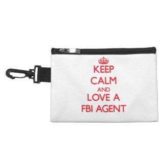 Keep Calm and Love a Fbi Agent Accessories Bag