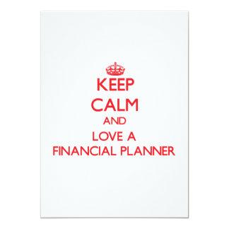 Keep Calm and Love a Financial Planner 13 Cm X 18 Cm Invitation Card