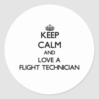 Keep Calm and Love a Flight Technician Stickers