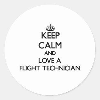 Keep Calm and Love a Flight Technician Stickers