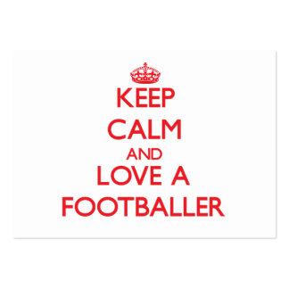 Keep Calm and Love a Footballer Business Card Templates