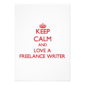 Keep Calm and Love a Freelance Writer Announcement