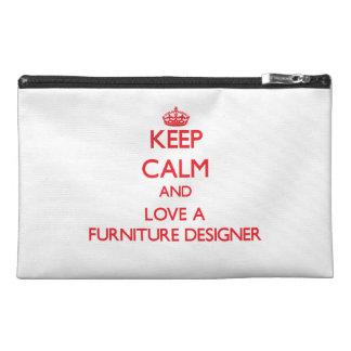 Keep Calm and Love a Furniture Designer Travel Accessory Bags