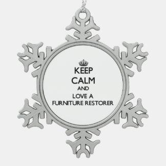 Keep Calm and Love a Furniture Restorer Ornament