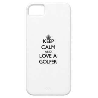 Keep Calm and Love a Golfer iPhone 5 Covers