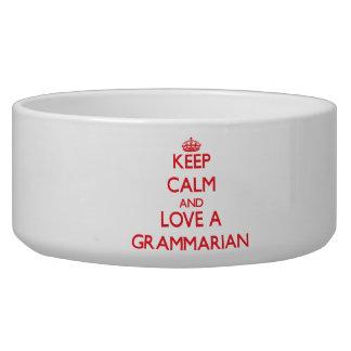 Keep Calm and Love a Grammarian Pet Food Bowls