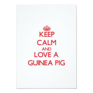 Keep calm and Love a Guinea Pig 13 Cm X 18 Cm Invitation Card