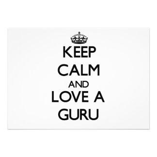 Keep Calm and Love a Guru Custom Invite