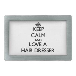 Keep Calm and Love a Hair Dresser Belt Buckles