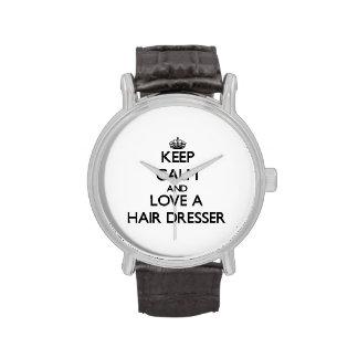 Keep Calm and Love a Hair Dresser Wristwatches