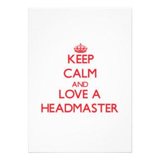 Keep Calm and Love a Headmaster Announcement