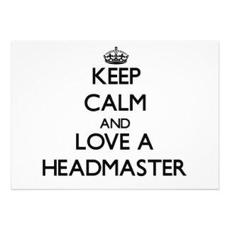 Keep Calm and Love a Headmaster Cards