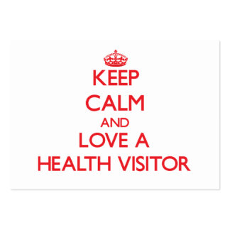 Keep Calm and Love a Health Visitor Large Business Cards (Pack Of 100)