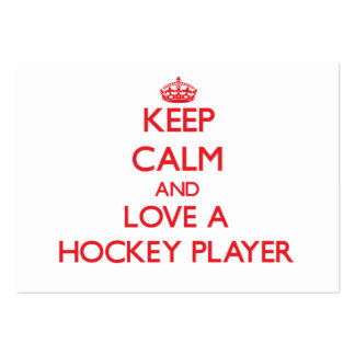 Keep Calm and Love a Hockey Player Business Cards