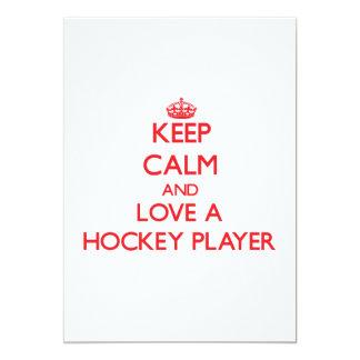Keep Calm and Love a Hockey Player Invitations