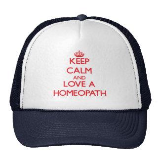 Keep Calm and Love a Homeopath Mesh Hats