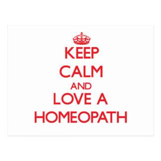 Keep Calm and Love a Homeopath Postcard