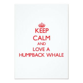 Keep calm and Love a Humpback Whale Custom Announcement