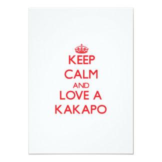 Keep calm and Love a Kakapo 13 Cm X 18 Cm Invitation Card