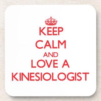Keep Calm and Love a Kinesiologist Drink Coasters