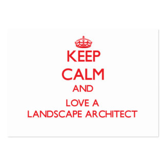 Keep Calm and Love a Landscape Architect Business Card Template