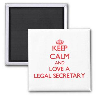 Keep Calm and Love a Legal Secretary Refrigerator Magnet