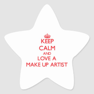 Keep Calm and Love a Make Up Artist Star Stickers