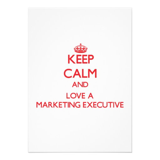 Keep Calm and Love a Marketing Executive Personalized Announcements