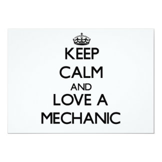 Keep Calm and Love a Mechanic Custom Announcements