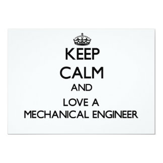 Keep Calm and Love a Mechanical Engineer Personalized Announcement