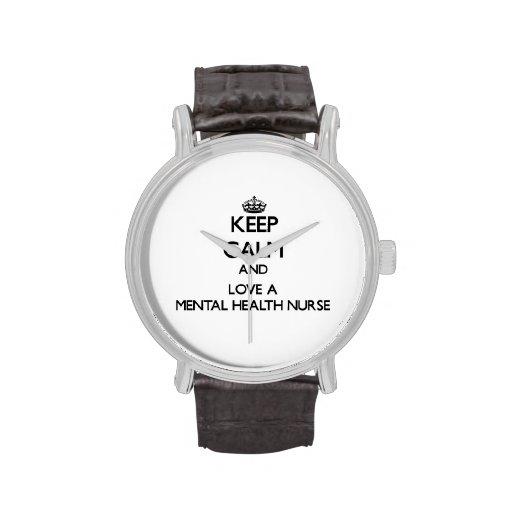Keep Calm and Love a Mental Health Nurse Wrist Watches